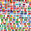 Flags of all world countries — Foto Stock