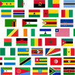 Flags of all Africa countries — Stock Photo