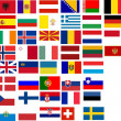 Flags of all European country. Illustrat - Foto Stock