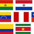 Flags of all South America countries — Stock Photo
