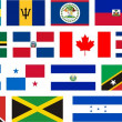 Stock Photo: Flags of all North America countries