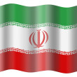 Iran flag — Stock Photo