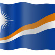 Royalty-Free Stock Photo: Flag of Marshall Islands