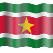 Flag of Surinam - Stock Photo