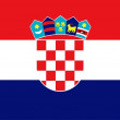 Croatia Flag - Stock Photo
