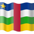 Flag of Central African Republic — Stock Photo