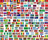 Flags of all world countries — Stock Photo
