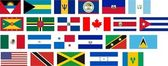 Flags of all North America countries — Stock Photo