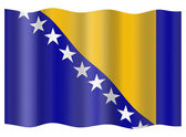 Bosnia and Herzegovina flag — Stock Photo