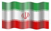 Iran flag — Stock Photo