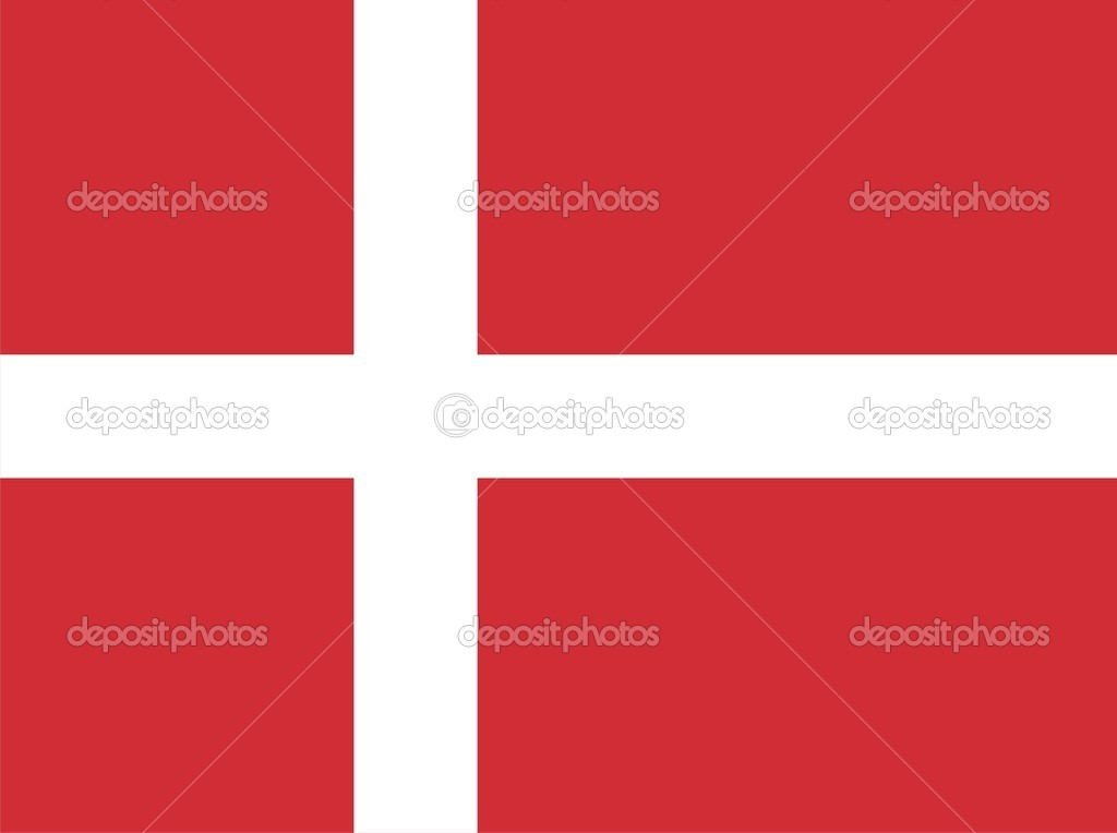 Denmark national flag. Illustration on white background — Stock Photo #1196918