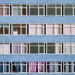 Wall of business center with windows — Stock Photo #2103500