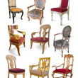 Stock Photo: Vintage chairs over white