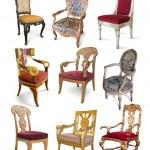 chaises Vintage white — Photo