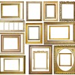 Set of  Vintage gold picture frame - 图库照片