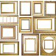 Set of  Vintage gold picture frame — Foto Stock
