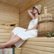 Stock Photo: Girl in sauna