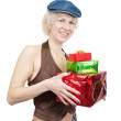 Royalty-Free Stock Photo: Happy girl with gifts