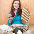 Knitting woman — Stock Photo #2106925