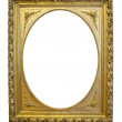 Gold antique oval frame — Stock Photo
