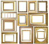 Set of Vintage gold picture frame — Foto de Stock