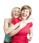 Happy girls — Stock Photo