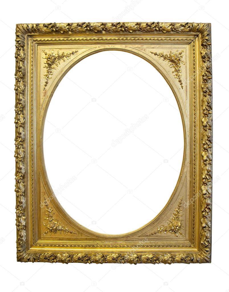 vintage gold oval pict