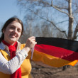 Girl with germany flag — Stock Photo #2113999
