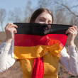 Girl with germany flag — Stock Photo #2114010