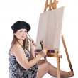 Royalty-Free Stock Photo: Young female painter