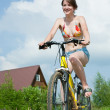 Girl goes on bicycle — Stock Photo #2114732