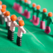 Stock Photo: Football team from plasticine