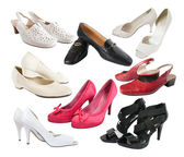 Few isolated female shoes — Stock Photo