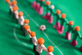 Football teams from plasticine — Stock Photo