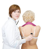 Doctor and a patient — Stock Photo