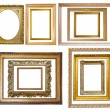 Set of Vintage gold picture frame — 图库照片 #2131232