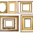 Set of Vintage gold picture frame — ストック写真