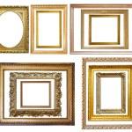 conjunto de moldura de ouro vintage — Foto Stock