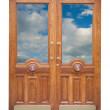 Decor old wooden door — Stock Photo #2132541