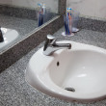 Interior of bath room — Stock Photo