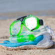 Stock Photo: Snorkel equipment
