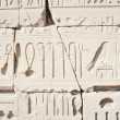 Wall in the Karnak Temple at Luxor — Stock Photo