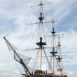 Vintage ship at harbor — Stock fotografie