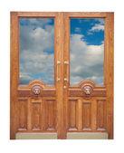 Wystrój stare drewniane drzwi — Zdjęcie stockowe