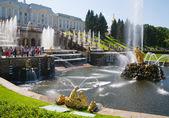 Fountains of Petergof — Stock Photo