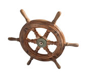 Ship wheel over white — Stock Photo