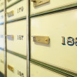 Vintage safe deposit boxes — Stock Photo #2140408