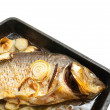 Grilled carp fish on the griddle — Stock Photo