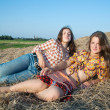 Country girls — Stock Photo