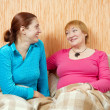 Happy woman and her daughter — Stock Photo